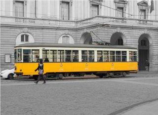 Почтовая открытка Миланский трамвай