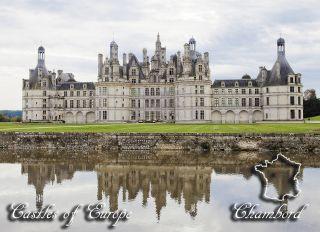 Почтовая открытка Замки Европы - Шамбор