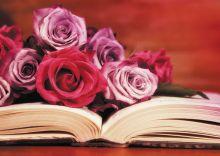Книга с цветами
