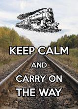 Почтовая открытка KEEP CALM and carry on the way