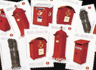 Почтовая открытка Марки. Почтовые ящики