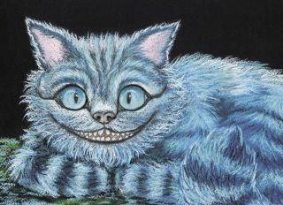 Почтовая открытка Чеширский кот